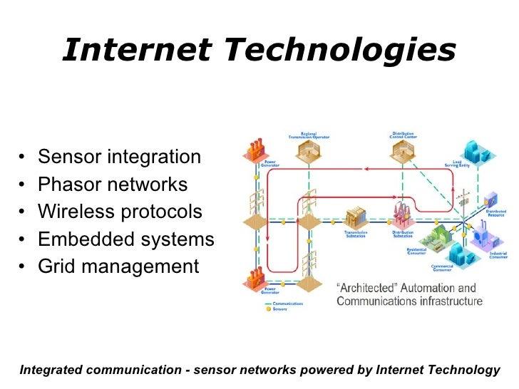 Internet Technologies <ul><li>Sensor integration </li></ul><ul><li>Phasor networks </li></ul><ul><li>Wireless protocols </...