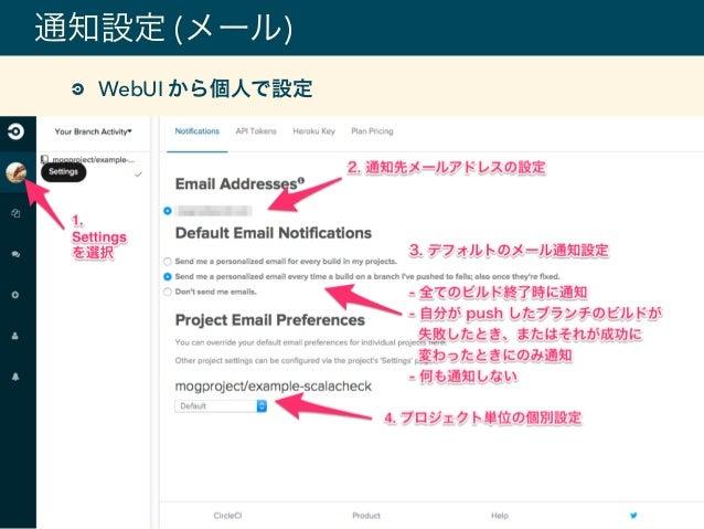 通知設定 (メール) WebUI から個人で設定