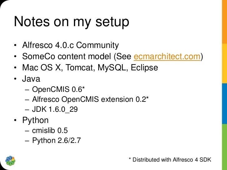 DEMOUsing OpenCMIS to create, query, relate, & deleteThe code comes from the ecmarchitect.com custom content typestutorial...