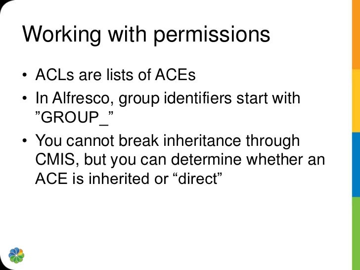 CMIS Resources• cmis.alfresco.com includes a public CMIS server  and links to CMIS resources• Read the CMIS specification•...