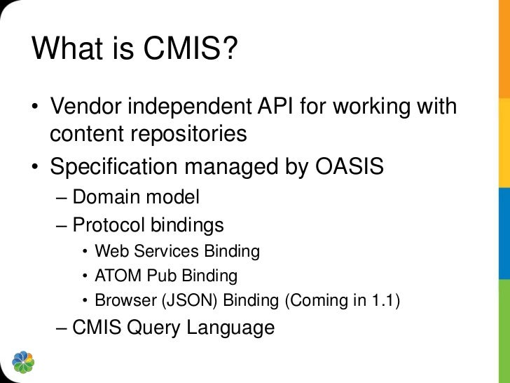 The Beauty of CMIS Presentation     Tier                 REST   SOAP                               ?   Content Services Ti...