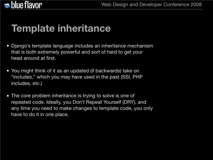 Getting started with django for Php template inheritance
