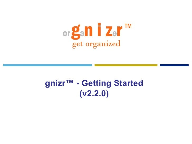 gnizr™ - Getting Started (v2.2.0)