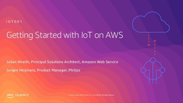 © 2019, Amazon Web Services, Inc. or its affiliates. All rights reserved.S U M M I T Getting Started with IoT on AWS Julia...
