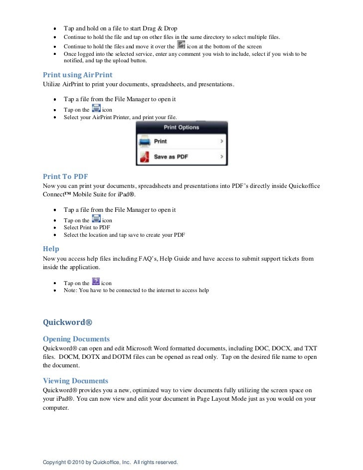 Tap on the blue chevron to see the file information, a visual first page preview of the file, and then tap on the file nam...