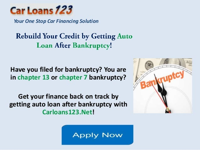Loans After Bankruptcy >> Getting A Car Loan After Bankruptcy Discharge