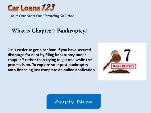 Used Car Loan After Bankruptcy