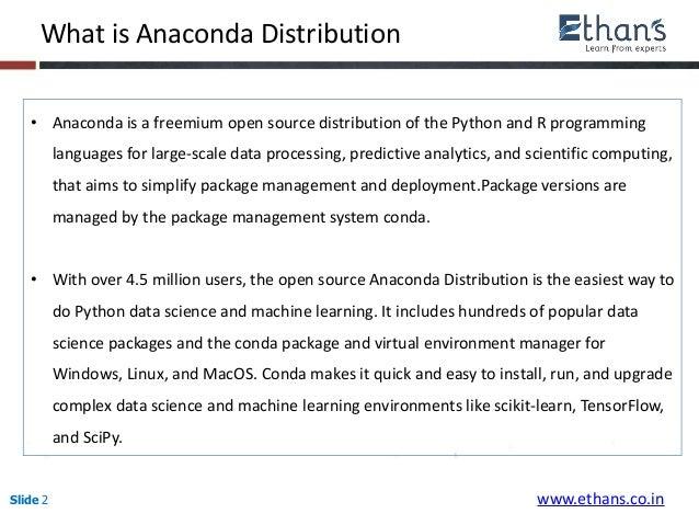 Installing Anaconda Distribution of Python