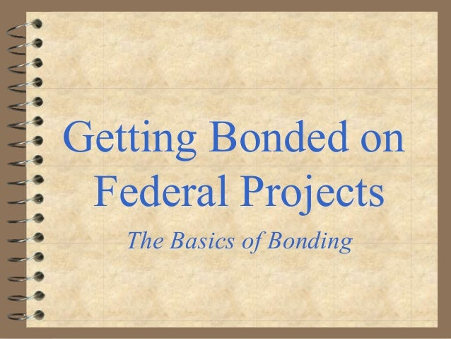 Getting Bonded on Federal Projects The Basics of Bonding