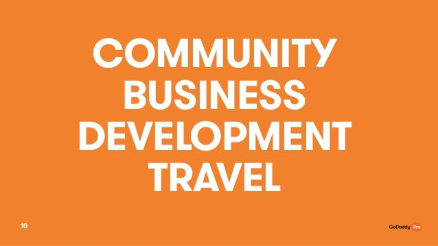 COMMUNITY BUSINESS DEVELOPMENT TRAVEL 10
