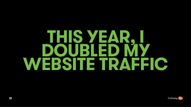 THIS YEAR, I DOUBLED MY WEBSITE TRAFFIC 12