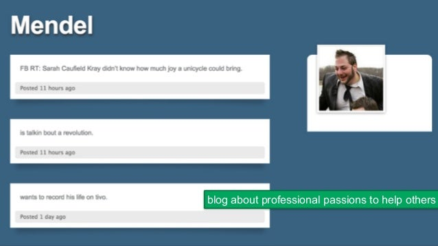 24 blog about professional passions to help others