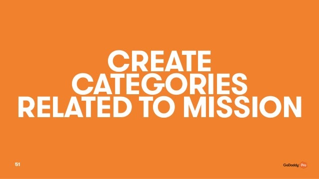 CREATE CATEGORIES RELATED TO MISSION 51
