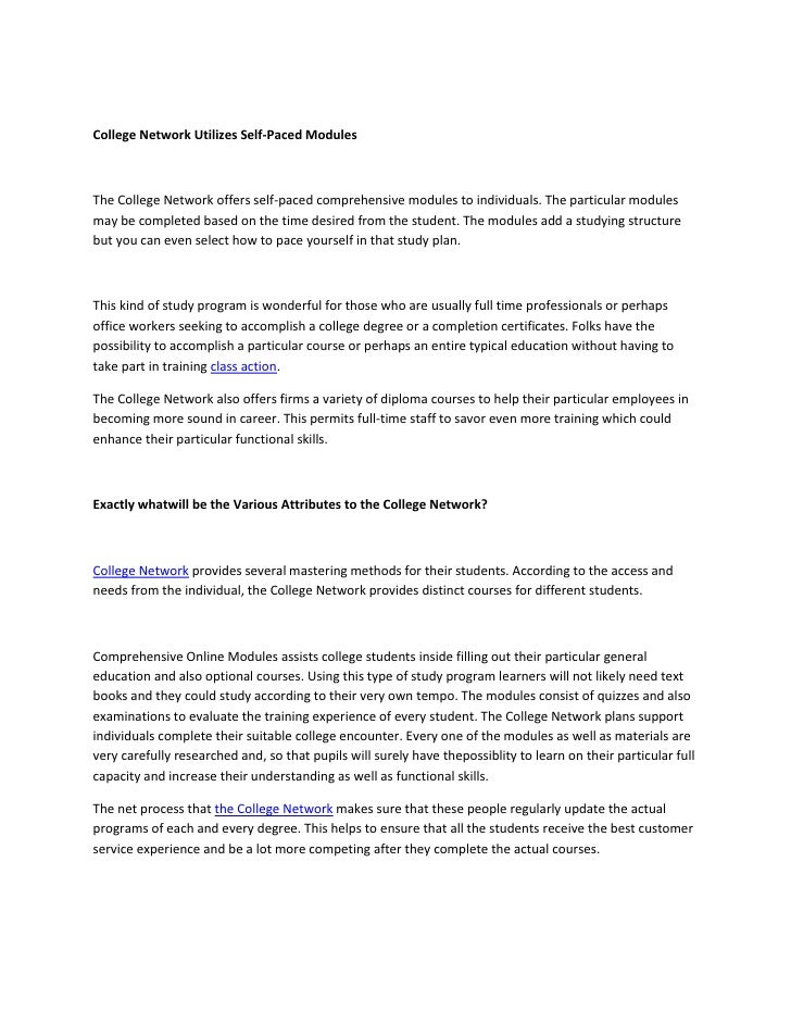 Getting college access with the college network 3