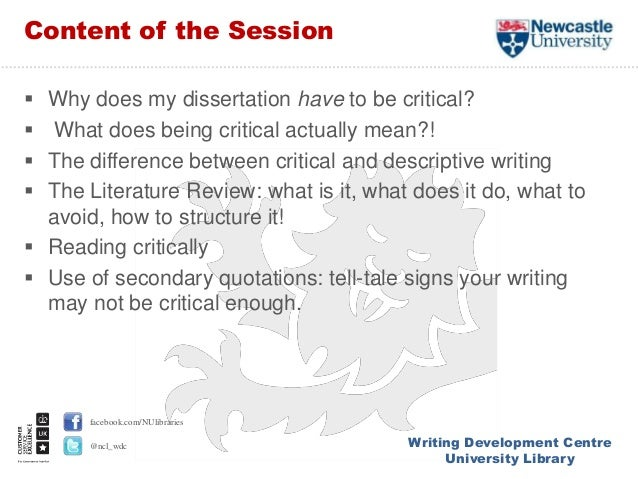 difference between descriptive critical literature review