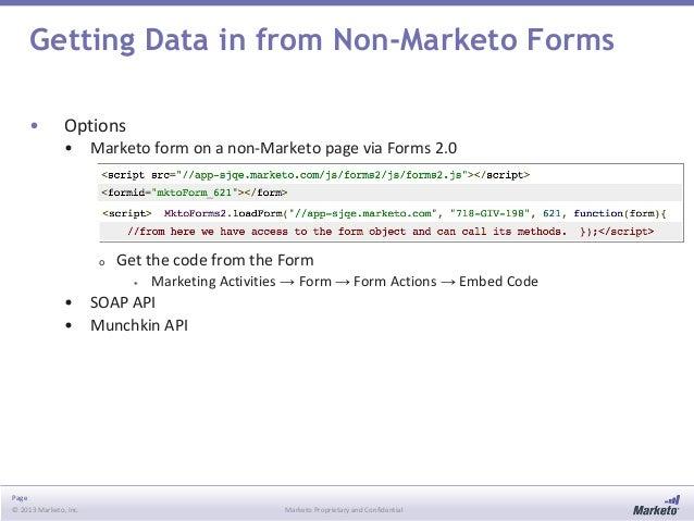 Getting Data into Marketo