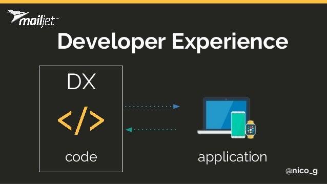 @nico_g code application Developer Experience DX