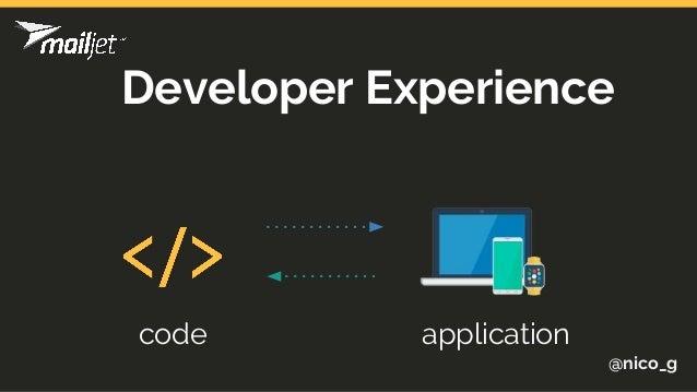 @nico_g Developer Experience code application