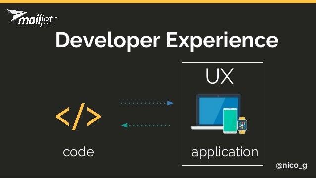 @nico_g code application Developer Experience UX