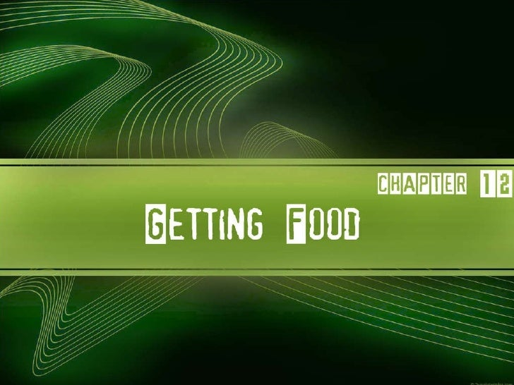 Getting food   anthropology Slide 1