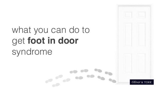 sc 1 st  SlideShare & Getting foot in door syndrome pezcame.com