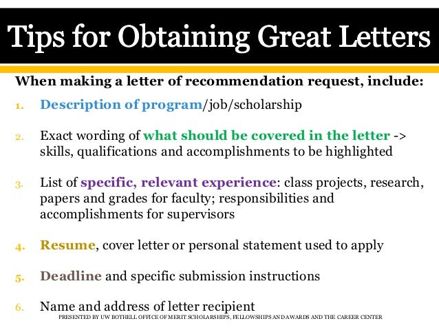 getting great letters of recommendation