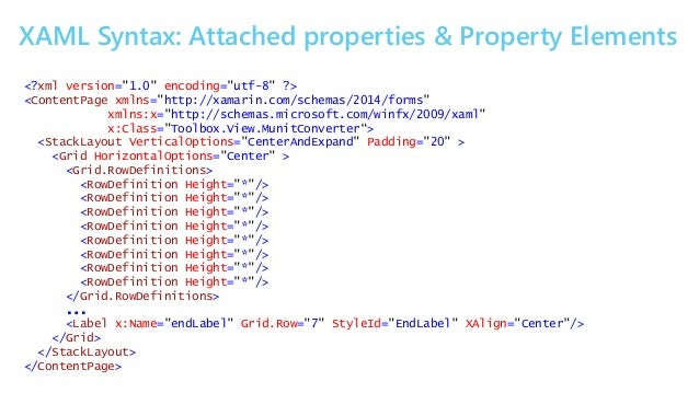 Getting hands on with xaml and xamarin