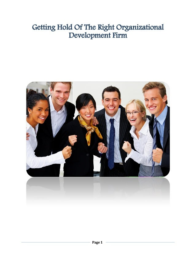 Getting Hold Of The Right Organizational Development Firm  Page 1