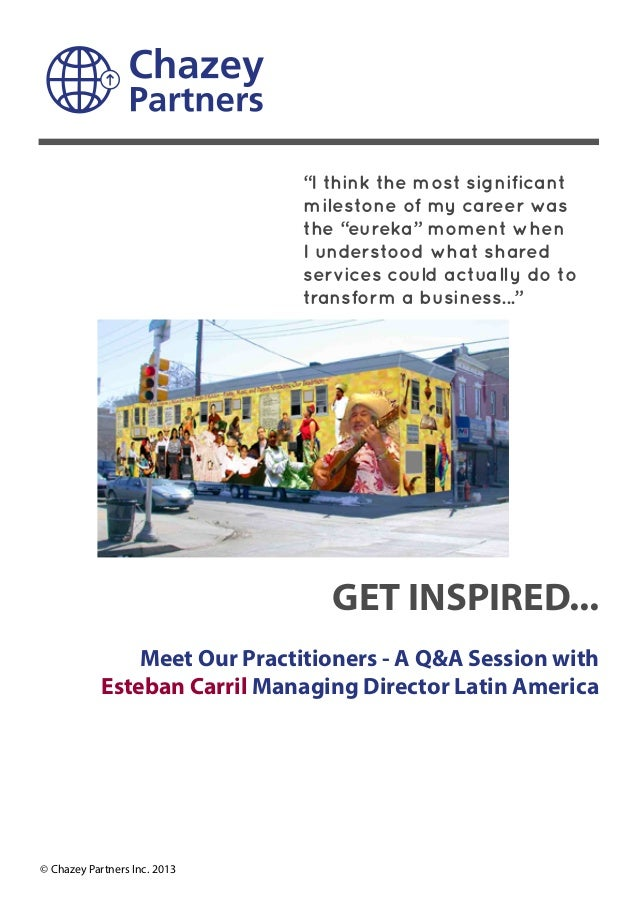 GET INSPIRED... Meet Our Practitioners - A Q&A Session with Esteban Carril Managing Director Latin America © Chazey Partne...