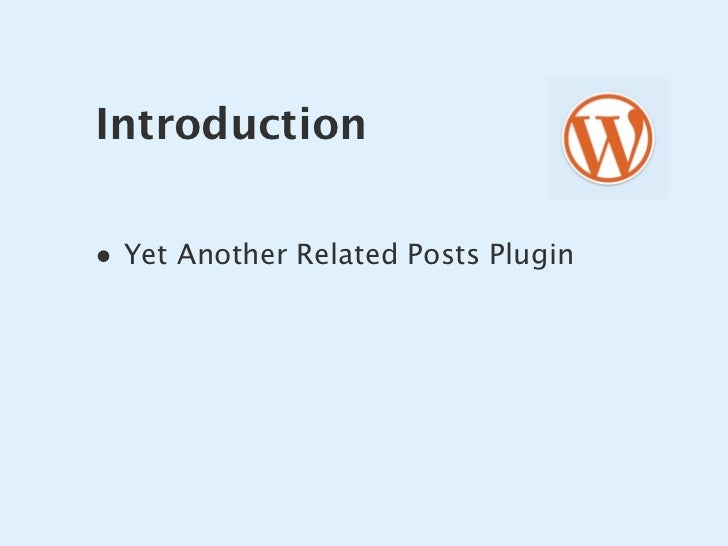 Introduction  • Yet Another Related Posts Plugin