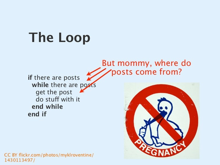 The Loop                                         But mommy, where do                                           posts come ...
