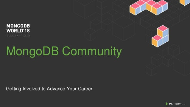 MongoDB Community Getting Involved to Advance Your Career