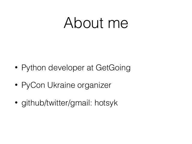 Володимир Гоцик  Getting maximum of python, django with