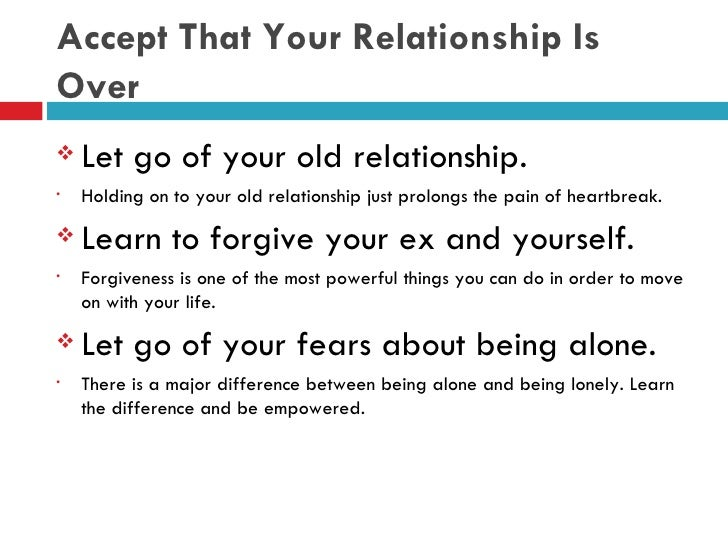 the pain of letting go of a relationship
