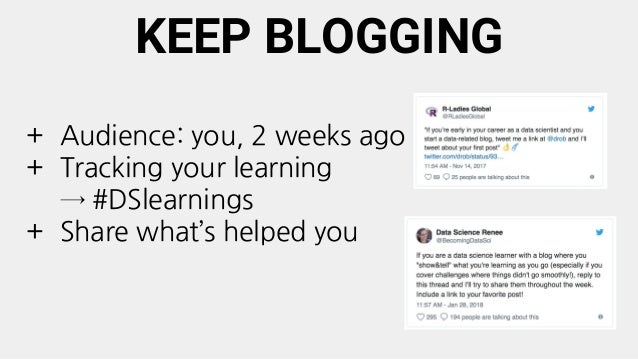 RESOURCES: GETTING PLUGGED IN + Building your data science network (finding community and reaching out), [Emily Robinson] ...