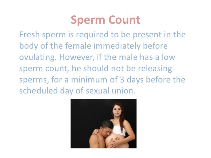 For Daily sex and sperm count share