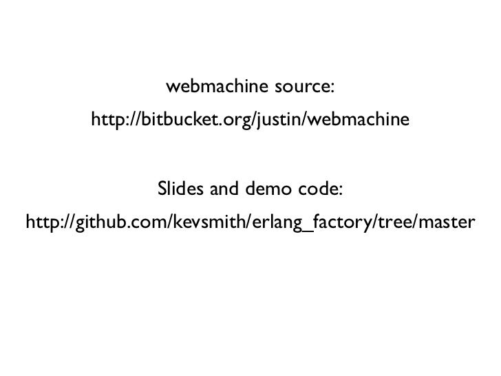 Getting Rest With Webmachine