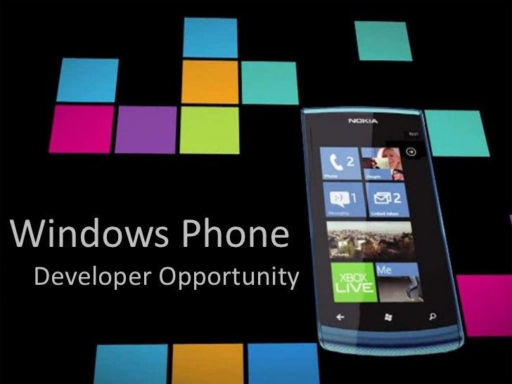 Windows Phone Developer Opportunity