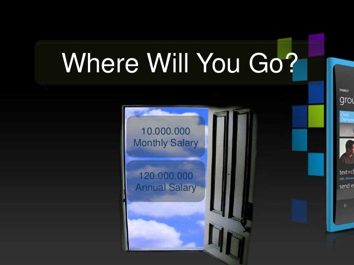Where Will You Go?      10.000.000     Monthly Salary     120.000.000     Annual Salary