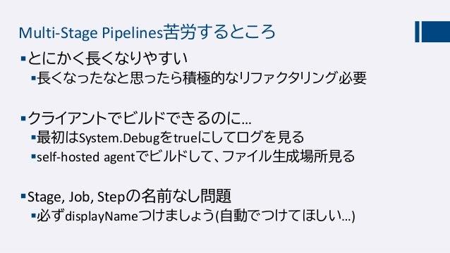 オンプレミスでもMulti-Stage Pipeline Azure DevOps Server 2020 RC1が公開(7/1) Multi-Stage Pipelineもサポートされました。 他たくさん新機能(だいたいSprint 1...