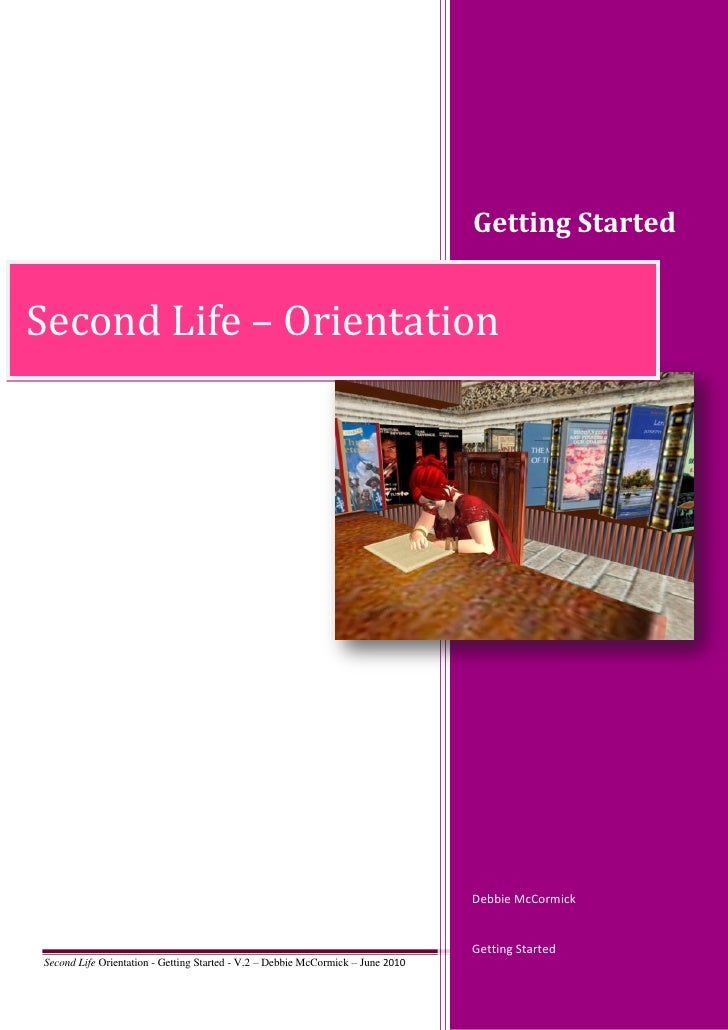 Getting Started   Second Life – Orientation                                                                               ...