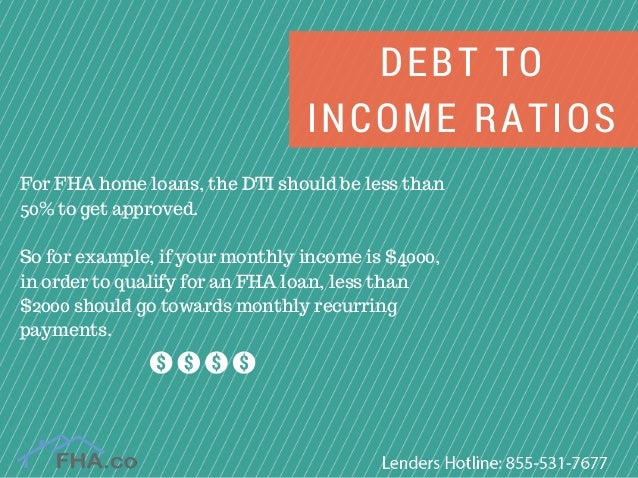 Debt To Income Ratios For Fha Home Loans