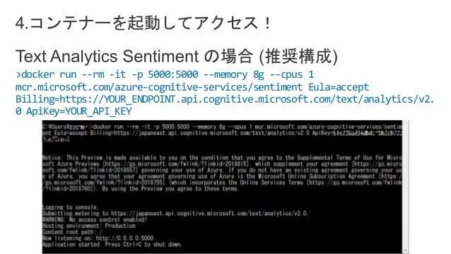 使ってみよう!Cognitive Services Container_20190122