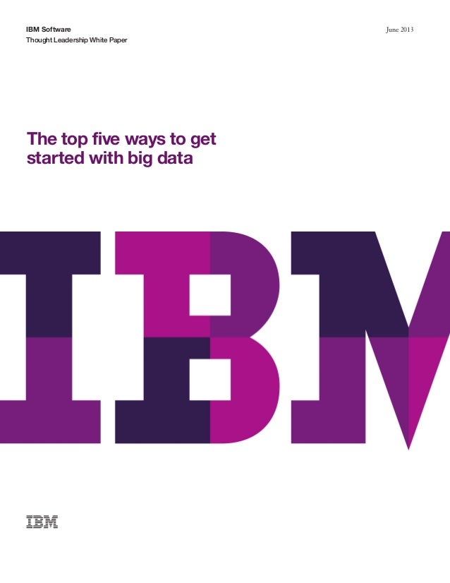 Getting started in Big Data