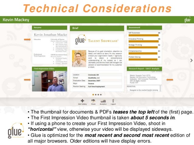 Technical Considerations • The thumbnail for documents & PDFs teases the top left of the (first) page. • The First Impress...