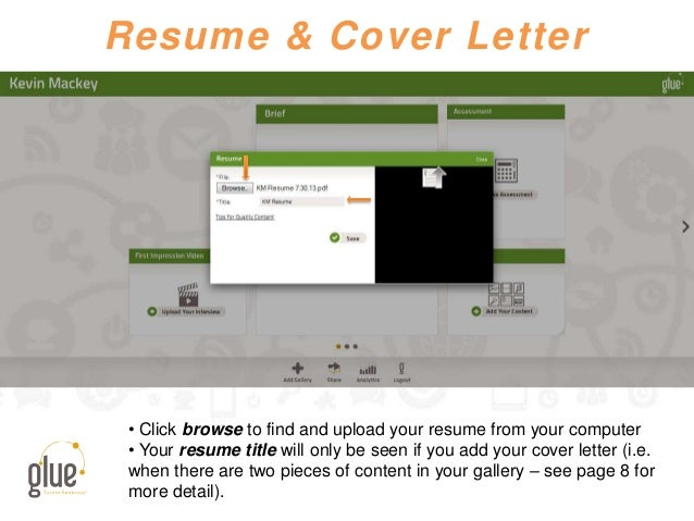 Resume & Cover Letter • Click browse to find and upload your resume from your computer • Your resume title will only be se...