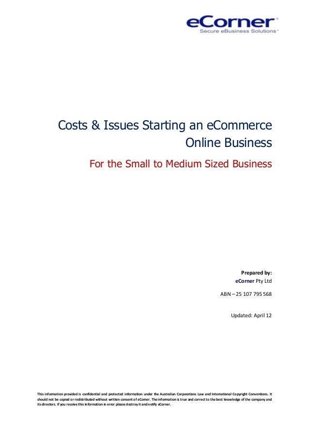 getting started selling online costs and issues for smes