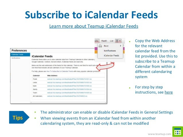 Shared Calendar for Groups and Projects - Getting Started with Teamup…