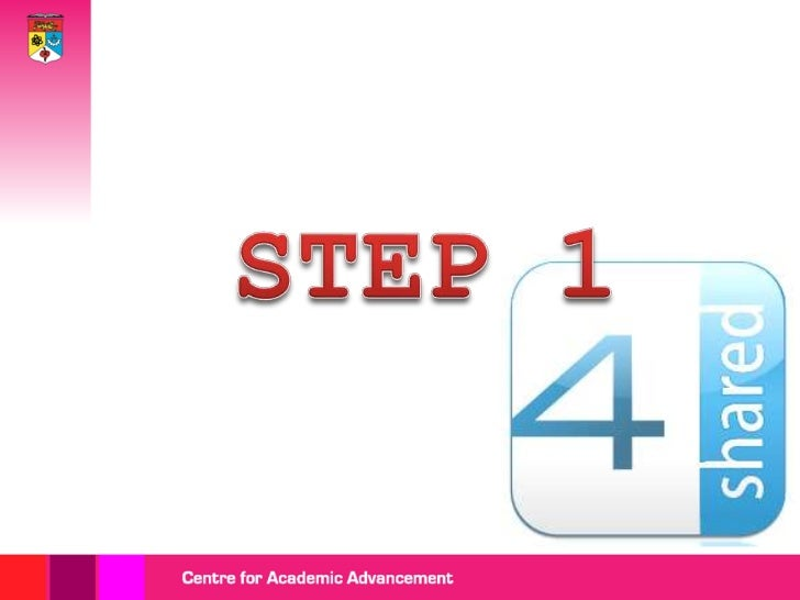 Getting started with 4 shared Slide 2