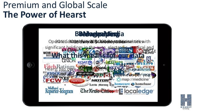 Premium and Global Scale The Power of Hearst Magazines 20 U.S. titles & nearly 300 international titles Newspapers 15 dail...